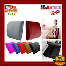 Lumbar Back Support For Office Chair Cushion Memory Foam Pillow Velvet Red Gray