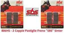 806HS - 2 Cp Pastiglie Freno Anteriori SBS Sinter per Kawasaki Z 1000 dal 2010