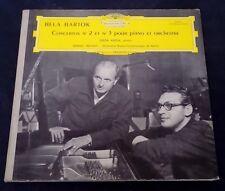 Bartok  Piano Concertos Nos. 2 & 3  Fricsay Geza Anda   DGG 618 611 Tulips lp EX