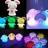 Nightlight Hot 7 Colors Changing LED Night Light Decoration Candle Lamp W1E