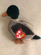 Original Ty Beanie Baby~Jake The Drake Duck~ 1997 7.5 '' long, GREEN,BROWN,WHITE