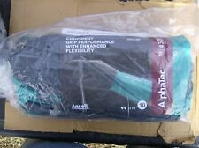 """12 PACK OF 58-430 ANSELL ALPHATEC CHEMICAL RESISTANT GLOVES SIZE 10 12"""""""