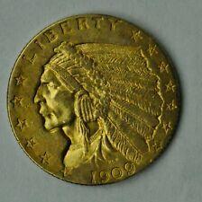 1909 - 2 1/2 Dollar Indian Gold Piece