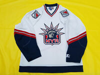 New York Rangers jersey Mens Starter White Mens XL Lady Liberty NHL extra large