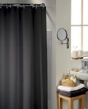 Rideau de douche noir 120x200 cm avec Anneaux Textile Diviseur D'espace Bain