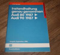 Reparaturleitfaden Audi 80 90 B3 Instandhaltung genau genommen Wartung 09/1986