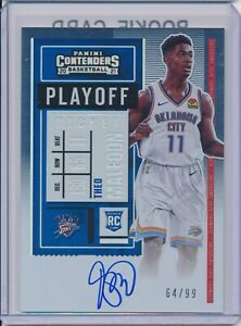 2020 PANINI CONTENDERS THEO MALEDON #118 PLAYOFF TICKET AUTO AUTOGRAPH /99