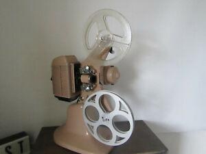 vintage Cine film projector NILUS 8mm  wooden carry case EXCELLENT quality 1957.