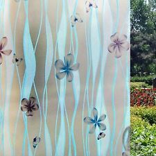 92cmx5m Floral Privacy Frosted Frosting Removable Glass Window Film c1093-1