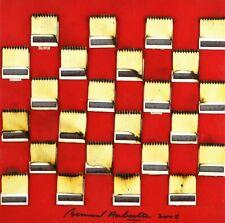 Bernard Aubertin – dessin de feu sur table rouge 02