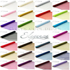 ORGANZA NO FRAYING WOVEN EDGED FABRIC SWAGGING XMAS VENUE PARTY TABLE CRAFTS