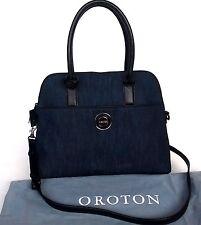New Oroton Metropolis Grip Top Bag Handbag Leather Denim RRP$695 Limited Edition