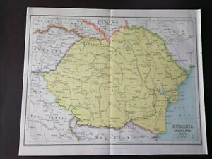 JOHN BARTHOLOMEW VINTAGE MAP-RUMANIA/ROMANIA/- PUBL.W&R CHAMBERS LTD.-1924/1926