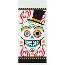 20 Halloween Giorno dei Morti SACCHETTI DI CELLOPHANE REGALO Sugar Skull Dia Muertos Bottino