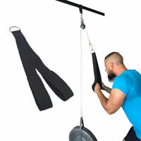 Tricep Rope Push Pull Down Cord Home Gym Bodybuilding Cable Attachment Workout