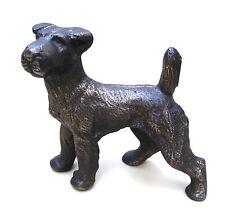 Vtg Jennings Bros? Fox Irish Terrier Dog Figurine Metal Textured Detailed 1930's
