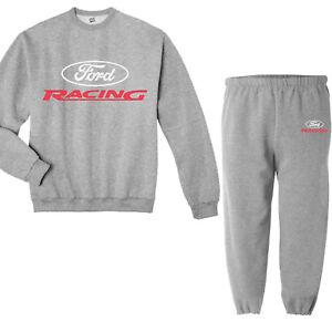 Ford Racing Decal Mustang Sweatshirt Sweatpants Tracksuit Sweats Gifts Sweatsuit