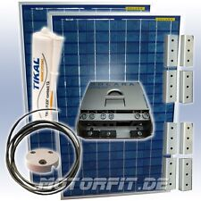 150W (12V) Solar-Profi-Spar-Set Solaranlage komplett mit Halterungen Solarregler