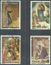Timbres Religion Noel St Thomas et Prince 970/3 o lot 2465