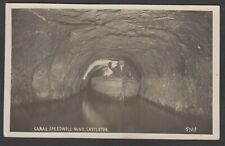 Postcard Castleton in Peak District Derbyshire cave Canal in Speedwell Mine RP