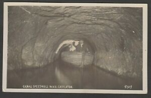 Postcard Castleton in Peak District Derbyshire cave Canal in Speedwell Mine RP