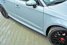 Pour Audi RS3 jupes latérales seuil Couverture Lip Cup jupe spoiler Chin Valance Splitter
