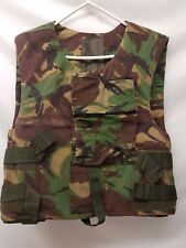Woodland DPM British Army Combat Body Armour Cover Flak Vest with Soft Filler