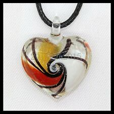 Fashion Women's Love lampwork Murano art glass beaded pendant necklace #M69