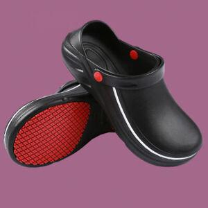 Men Women Kitchen Chef Shoes Nonslip Safety Anti Slip Work Clogs Oil Water Proof