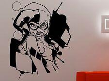 Harley Quinn Wall Sticker Vinyl Decal Comics Superhero Art Kids Room Decor 1hzz