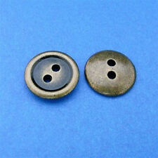 15 Metal Brass Plate 2 Holes Shirt Top Pant Sew On Buttons 15mm 24L M102
