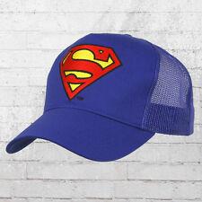 LOGOSHIRT Mesh Trucker Cap SUPERMAN LOGO STICK BLU truckercap Visiera Berretto Cappuccio