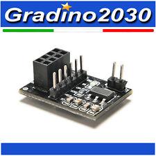 Adattatore per modulo wireless 8PIN NRF24L01 + 2,4Ghz ARDUINO circuito module