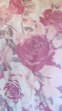 """100% Cotton CABBAGE ROSES Floral Dress Fabric 4 Yds long & 45"""" w CRAFTS Pillows"""