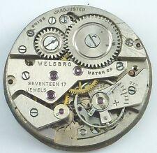 Vintage Welsbro Watch Company Mechanical Wristwatch Movement - Parts / Repair