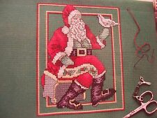Santa's Turtle Dove Christmas OOP Cross Stitch PATTERN (W)