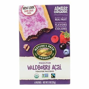Nature's Path Organic Frosted Toaster Pastries - Wildberry Acai - Case Of 12 - 1