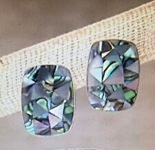 Jay King  Abalone and Pink Shell  Earrings  NWT