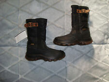 Naturino RainStep Black Leather/Nylon Girl's Boots Size 29 Eu/12  New with Tags