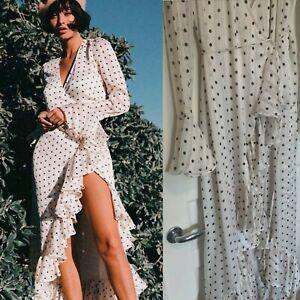 Shona Joy Womens Wrap Dress Polka Dot Maxi -medium 10/12