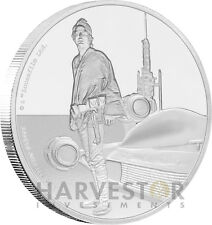 STAR WARS CLASSICS: LUKE SKYWALKER - 1 OZ. SILVER COIN - OGP COA - 7TH IN SERIES