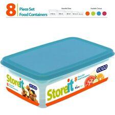 8 pièces plastique Alimentaire conteneurs de stockage Set avec couvercle réutili...