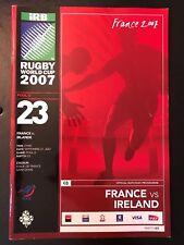 9705 - Rugby World Cup 2007 RWC - France v Ireland Programme 21/09/2007