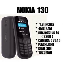 TELEFONO NOKIA 130 2017 CELLULARE ECONOMICO FOTOCAMERA NERO DUAL SIM