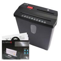 OLYMPIA PS 38 Set mit Ölpapier Aktenvernichter Papier Kreditkarten CD