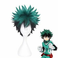 Green Cosplay Wigs for Boy Ombre Wig Short Wavy Synthetic Wigs Cosplay Costume