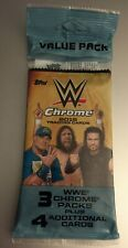 2015 TOPPS CHROME WWE Unopened Retail VALUE PACK Superfractor?