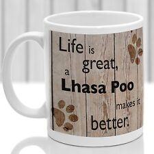 Lhasa Poo dog mug, Lhasa Poo dog gift, ideal present for dog lover