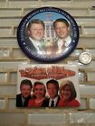 Vintage 1996 official inauguration pins Clinton Gore Hillary Tipper large button