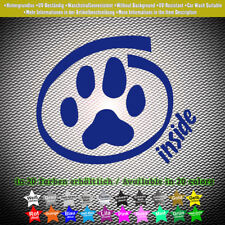 Dog Inside Aufkleber Sticker Hund Auto Tour Funny 10cm x 8cm